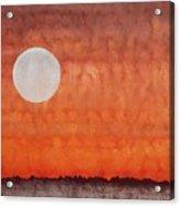 Moon Over Mojave Acrylic Print