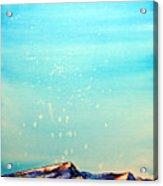 Moon Over Mountain Acrylic Print