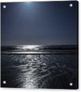 Moon Over Ocracoke Acrylic Print by Jeff Moose