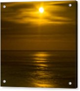 Moon Over Pacific Acrylic Print