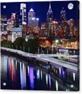 Moon Over Philly Acrylic Print