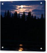 Moon Over Piprell Lake Acrylic Print