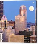 Moon Over Pittsburgh 2 Acrylic Print by Emmanuel Panagiotakis