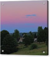 Moon Over Rodborough Common Acrylic Print