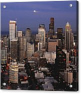 Moon Over Seattle Acrylic Print
