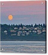 Moon Over Steilacoom Acrylic Print
