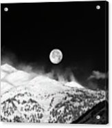 Moon Over The Alps Acrylic Print