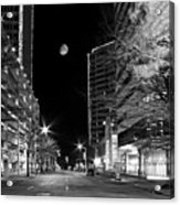 Moon Over The Bottom Acrylic Print