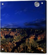 Moon Over The Canyon Acrylic Print