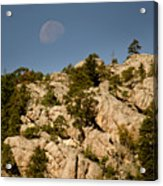 Moon Over The Hills Acrylic Print