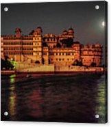 Moon Over Udaipur Acrylic Print