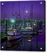 Moon Over Winchester Bay Acrylic Print