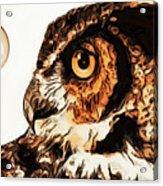 Moon Owl Acrylic Print