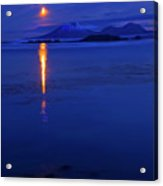 Moon Rise Over Mt. Edgecumbe Acrylic Print
