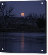 Moon Rise Over The Tongue Acrylic Print