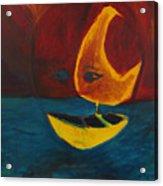 Moon Ship Acrylic Print