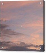 Moon Sliver In Summer Sky Acrylic Print