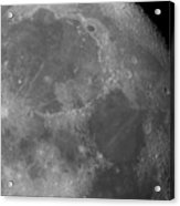Moon Surface Close-up Acrylic Print