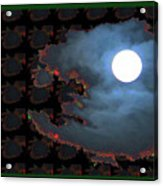 Moon Through Clouds  Photography With Graphic Flavour Created By Navinjoshi At Fineartamerica.co Acrylic Print