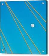 Moon Through The Wires Acrylic Print