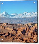 Moon Valley Atacama Desert Acrylic Print