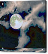 Moon Walk By The Clouds Acrylic Print