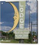 Moon Winx Lodge Sign Acrylic Print