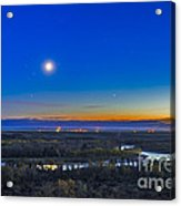 Moon With Antares, Mars And Saturn Acrylic Print