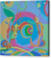 Moonbird In A Dragon Spiral Acrylic Print