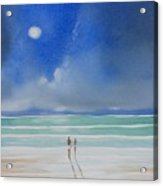Moonlight At The Beach II Acrylic Print
