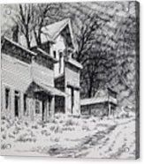 Moonlight Bannack Ghost Town Montana Acrylic Print