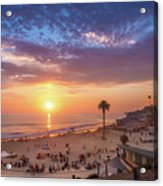 Moonlight Beach Sunset Acrylic Print