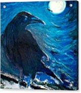 Moonlight Crow Acrylic Print