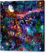 Moonlight Gardens Winter Acrylic Print