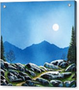 Moonlight Hike Acrylic Print