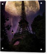 Moonlight In Paris Acrylic Print