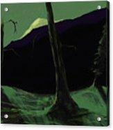 Moonlight In The Rockies Acrylic Print