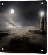 Moonlight Lighthouse Acrylic Print