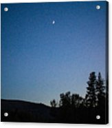 Moonlight Mirage Methow Valley Landscapes By Omashte Acrylic Print