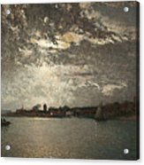 Moonlight Mood, The Stockholm Inlet  Acrylic Print