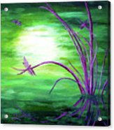 Moonlight On Green Water Acrylic Print