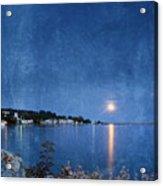 Moonlight On Mackinac Island Michigan Acrylic Print