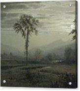 Moonlight On Mount Lafayette Acrylic Print