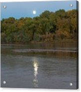 Moonlight On The Rio Grande Acrylic Print