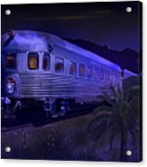 Moonlight On The Sante Fe Chief Acrylic Print
