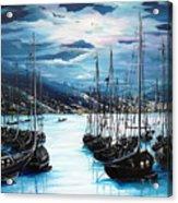 Moonlight Over Port Of Spain Acrylic Print