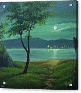 Moonlight Over The Sea Acrylic Print