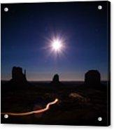 Moonlight Over Valley Acrylic Print