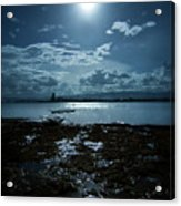 Moonlight Acrylic Print by Rodell Ibona Basalo