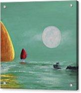 Moonlight Sailnata Acrylic Print